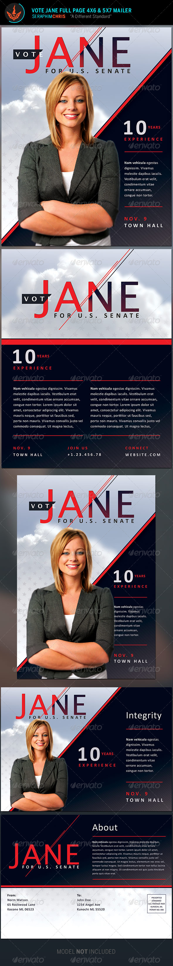 GraphicRiver Jane Political Flyer and Mailer Template 8645127