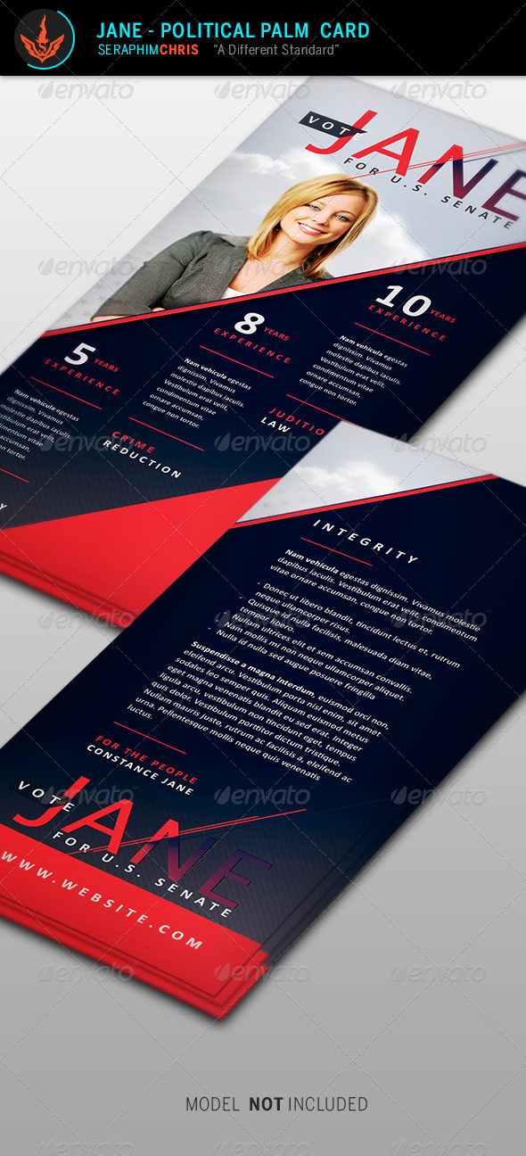 GraphicRiver Jane Political Palm Card Template 8645249