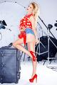 Beautiful elegant model in a studio photo shoot - PhotoDune Item for Sale