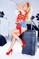 Sexy elegant model in a studio photo shoot - PhotoDune Item for Sale