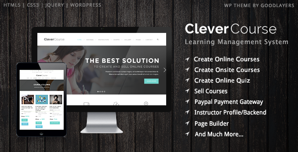 ThemeForest Clever Course Learning Management System Theme 8645312