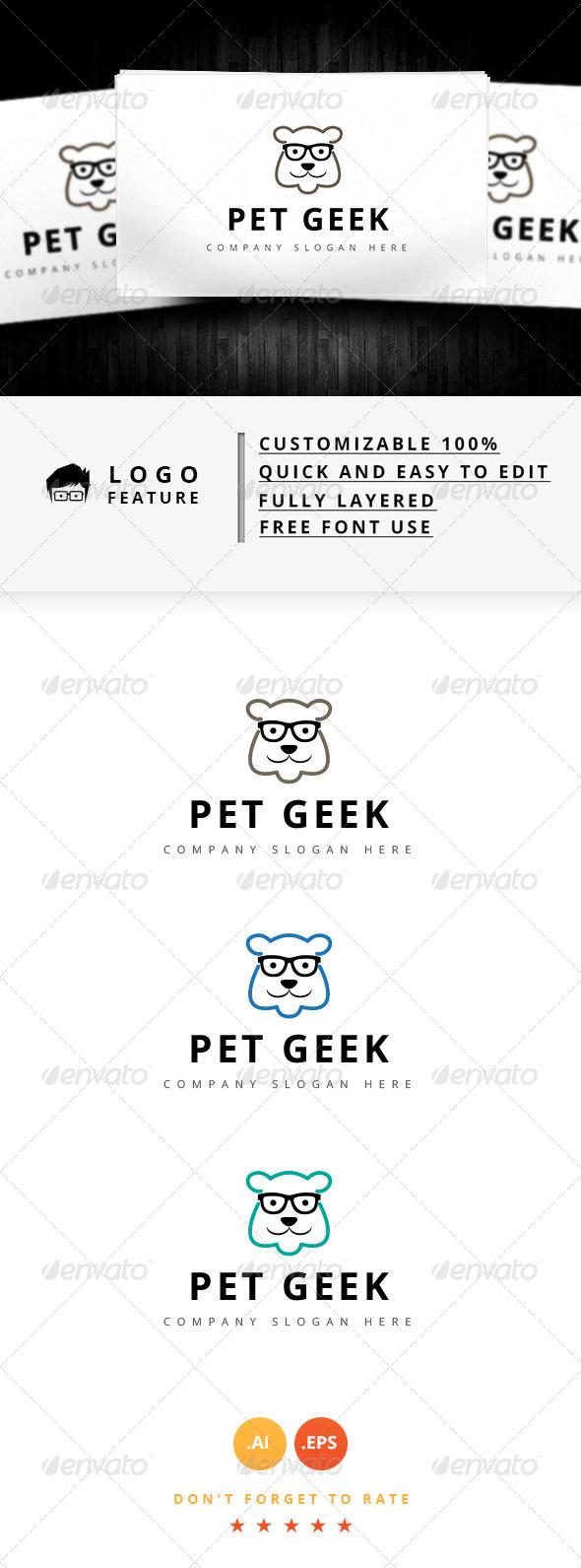 GraphicRiver Pet Geek Logo 8645334