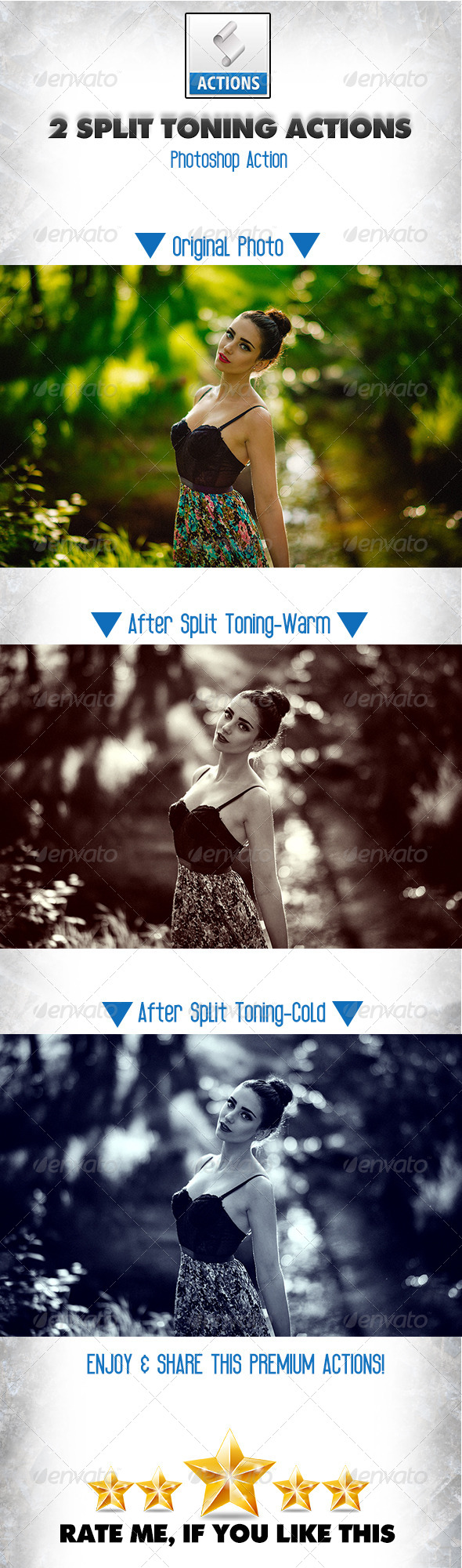 GraphicRiver 2 Split Toning Actions 8645335