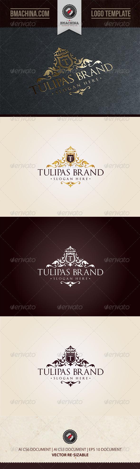 GraphicRiver Tulipas Brand Logo Template 8645360
