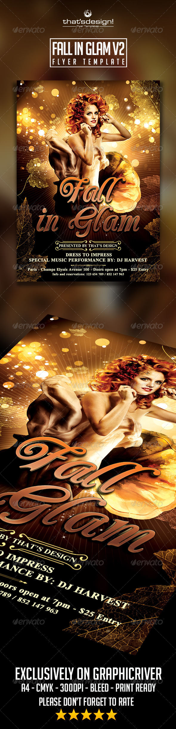 GraphicRiver Fall in Glam Flyer Template V2 8645396