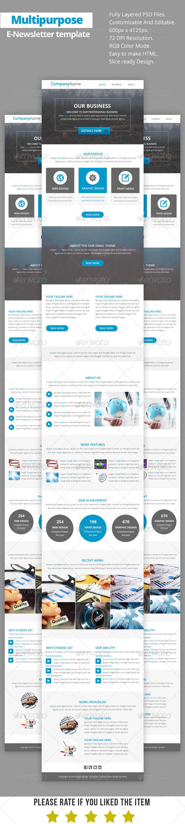 GraphicRiver Multipurpose E-Newsletter Template V13 8645499