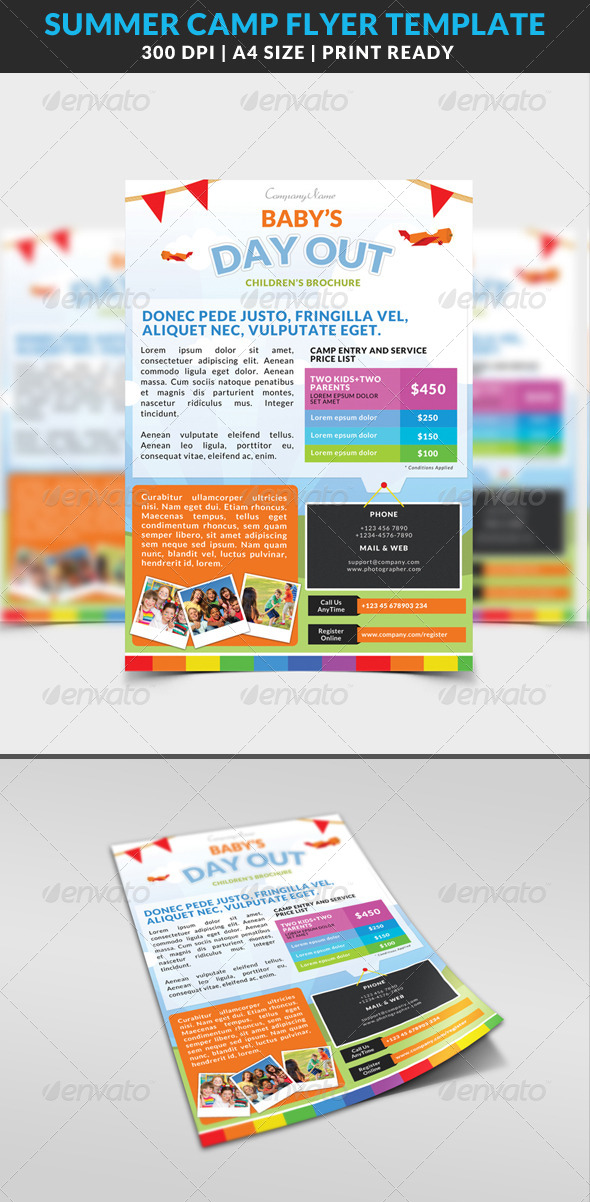 GraphicRiver Summer Camp Kids Children Flyer 8567471