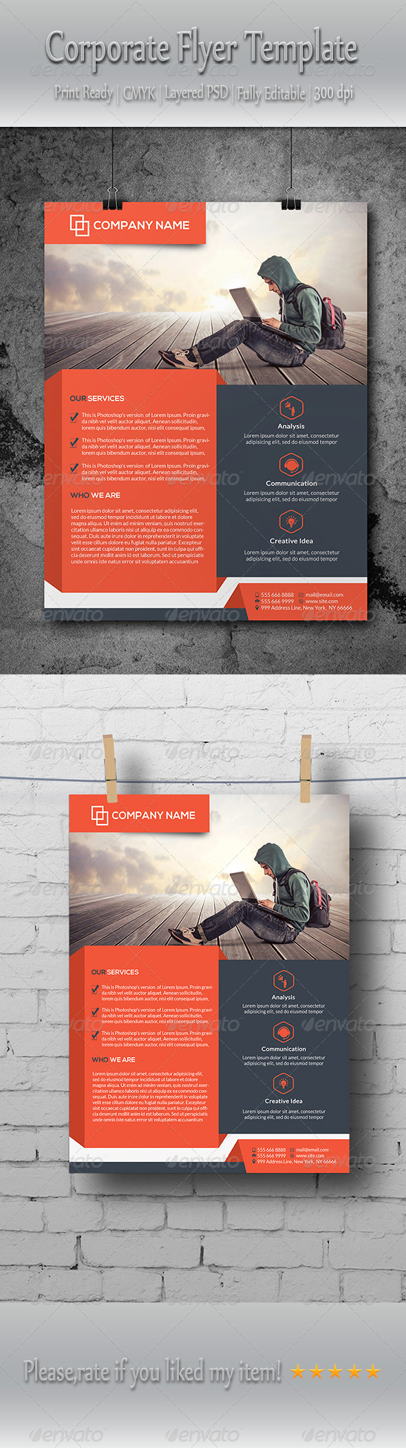 GraphicRiver Corporate Flyer Template 8642034