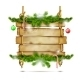 Hanging Christmas Wooden Billboard. - GraphicRiver Item for Sale