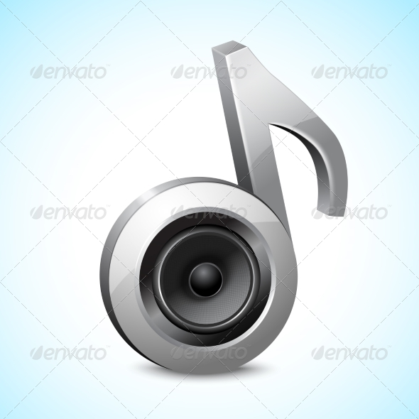 GraphicRiver Audio Speaker Note 8645680