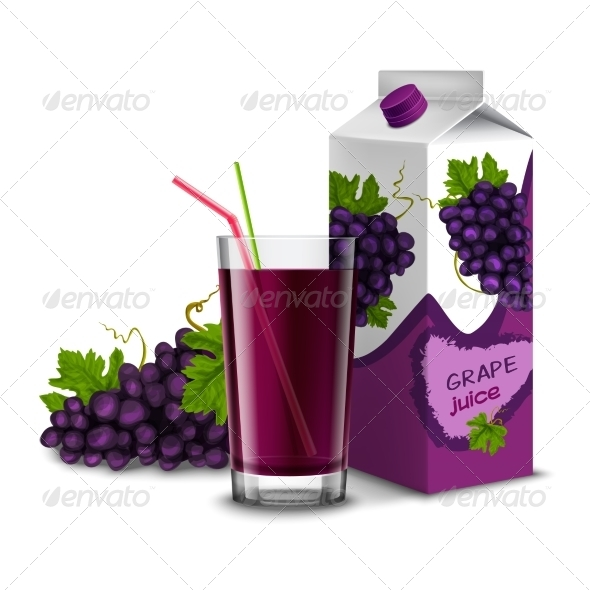 GraphicRiver Grape Juice Set 8645682