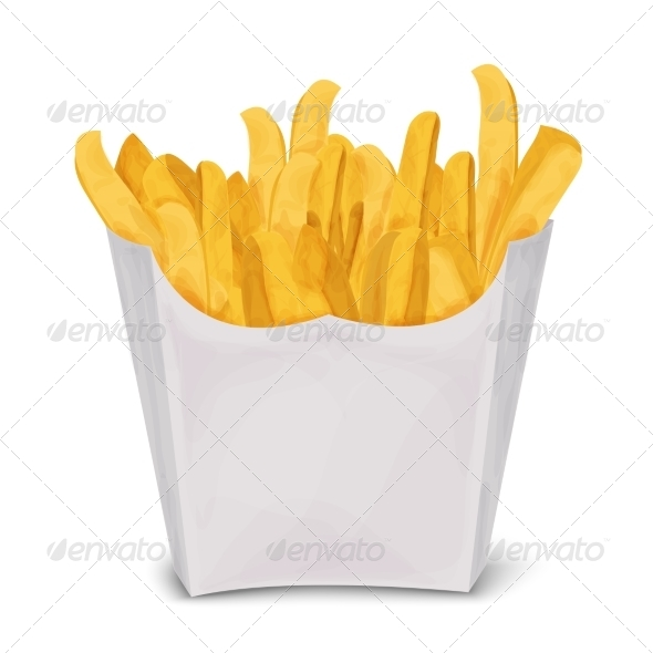 GraphicRiver French Fries Isolated 8645684