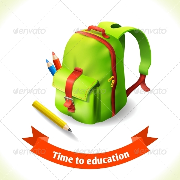 GraphicRiver Backpack Education Icon 8645687