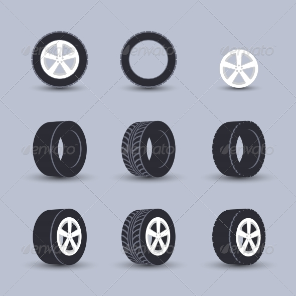 GraphicRiver Tire Icon Set 8645691