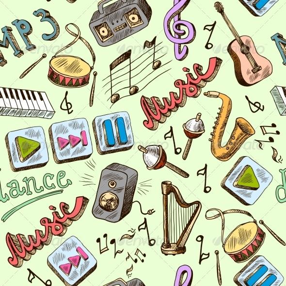 GraphicRiver Music Seamless 8645693