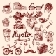 Set of Hipster Icons - GraphicRiver Item for Sale