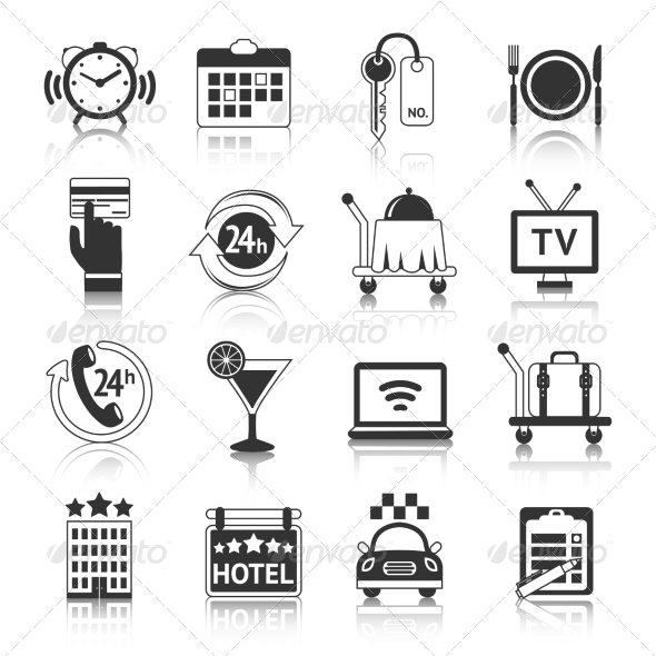 GraphicRiver Hotel Icons Set 8645698