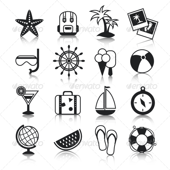 GraphicRiver Holiday Icons Set 8645701