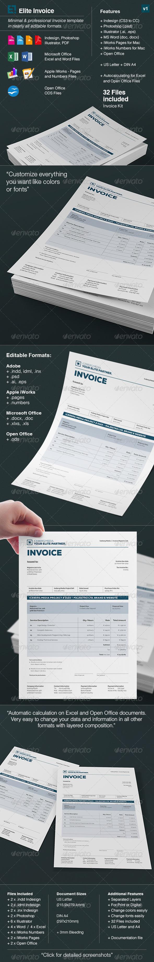 GraphicRiver Elite Invoices 8645702
