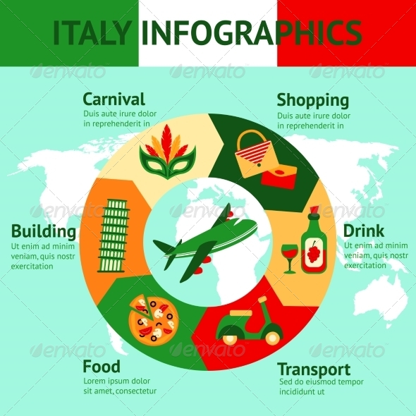 GraphicRiver Italy Travel Infographics 8645703