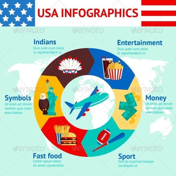 GraphicRiver USA Travel Infographics 8645707
