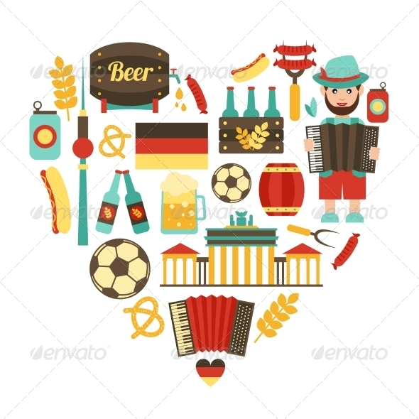 GraphicRiver Germany Travel Heart Set 8645718