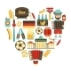 Germany Travel Heart Set - GraphicRiver Item for Sale