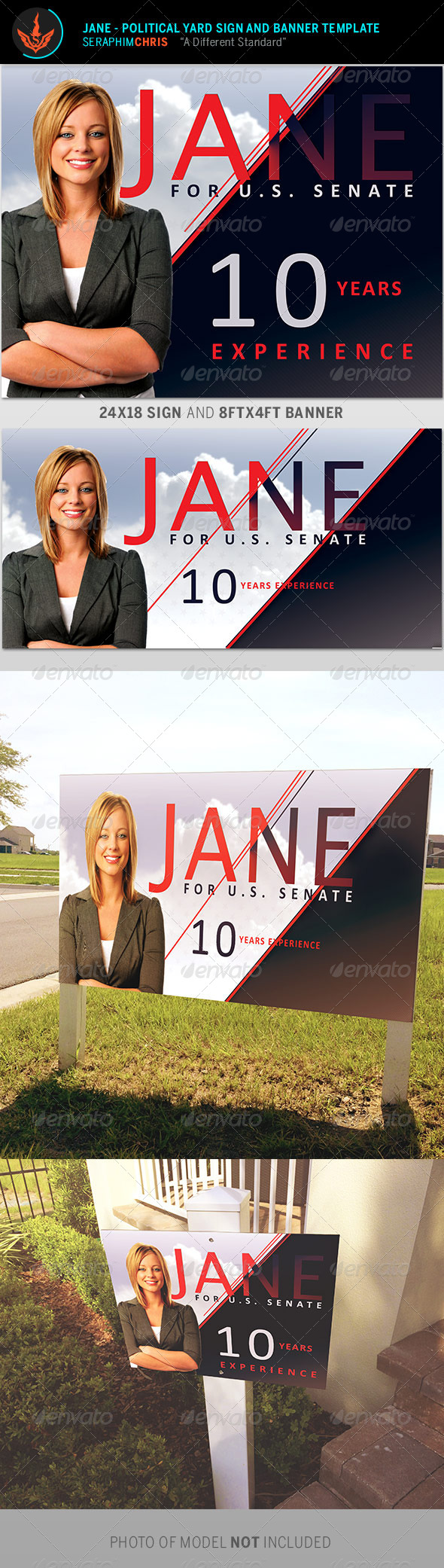 GraphicRiver Jane Political Yard Sign and Banner Template 8645753