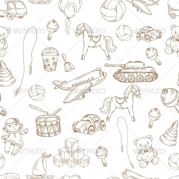 GraphicRiver Toys Seamless Pattern 8645761