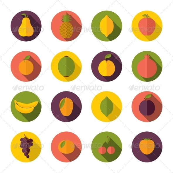 GraphicRiver Set of Fruits Icons 8645766