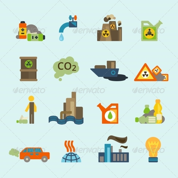 GraphicRiver Pollution Icon Set 8645771