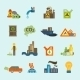 Pollution Icon Set - GraphicRiver Item for Sale