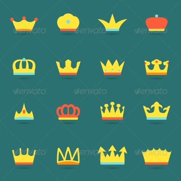 GraphicRiver Crown Icon Set 8645772