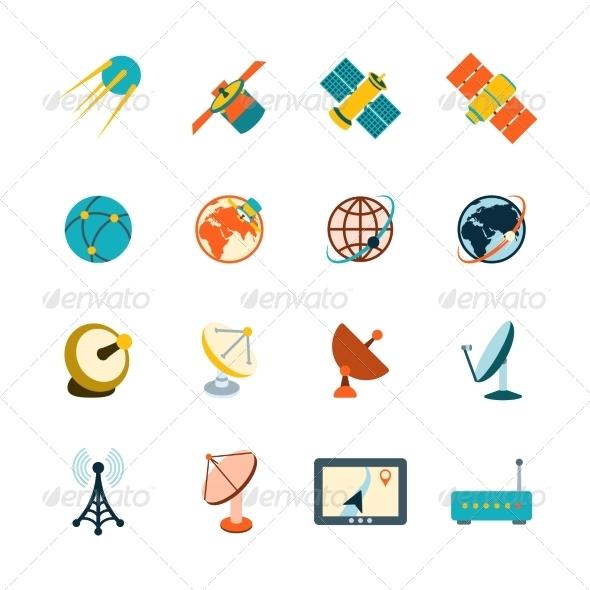 GraphicRiver Satellite Icons Set 8645773