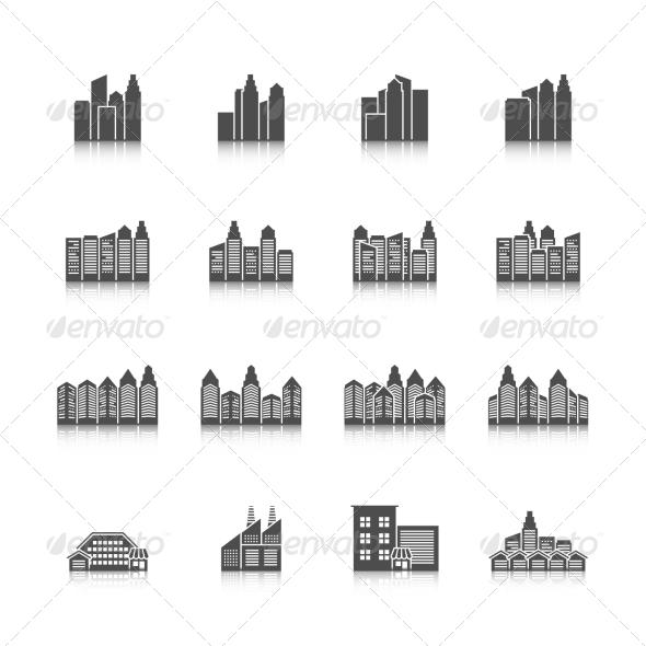 GraphicRiver Cityscape Icons Set 8645775
