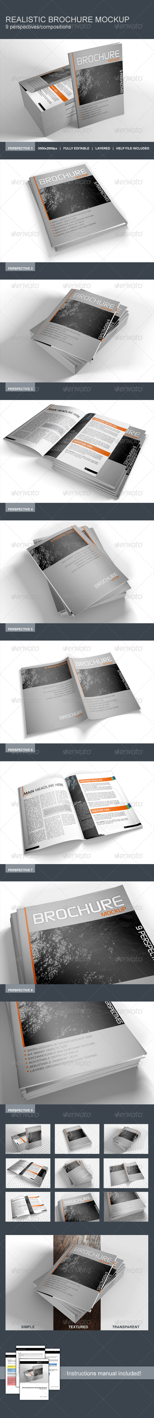 GraphicRiver Realistic Brochure Booklet Magazine Mockup 8645814