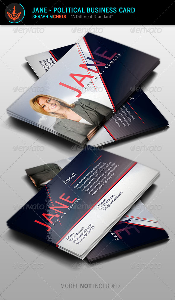 GraphicRiver Jane Political Business Card Template 8645820