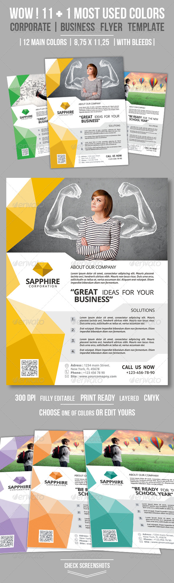 GraphicRiver Clean Corporate Business Flyer Vol 02 8645833