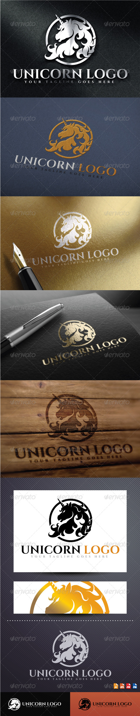 GraphicRiver Unicorn Logo 8645836