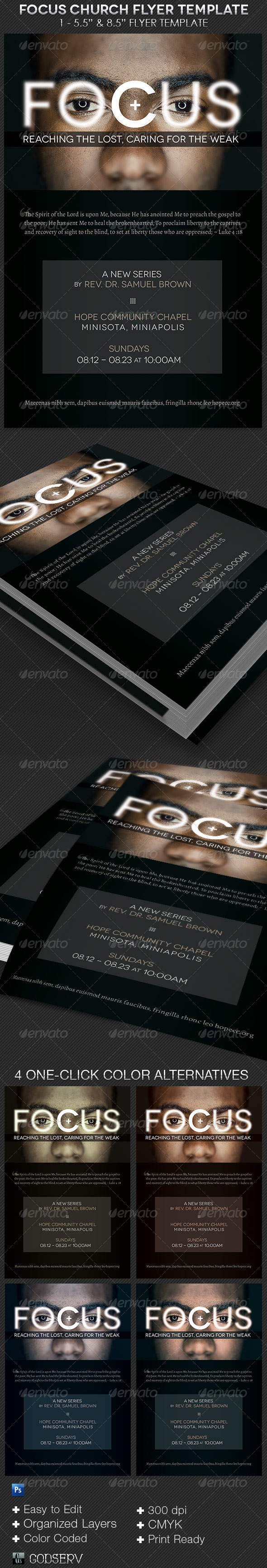 GraphicRiver Focus Church Flyer Template 8646006