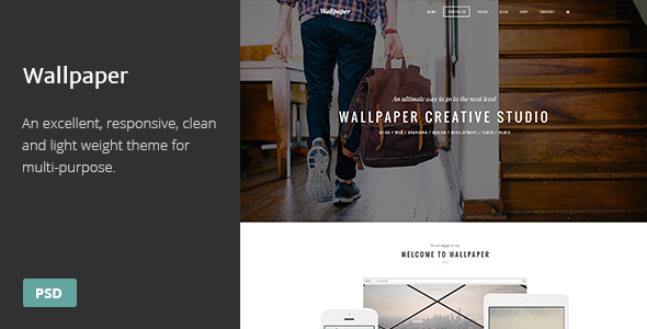 ThemeForest Wallpaper Multi-Purpose PSD Theme 8646023