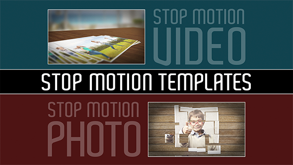 Stop Motion Templates 2 Projects in 1