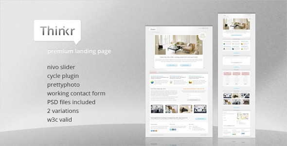 ThemeForest Thinkr Landing Page 864394
