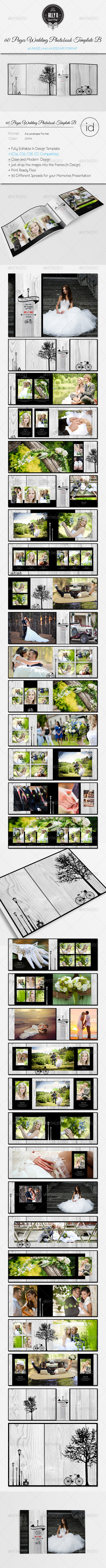 GraphicRiver 60 Pages Wedding PhotobookTemplate Be 8646157