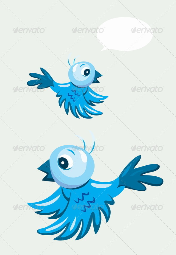 GraphicRiver Cartoon Bird Flying 8646159