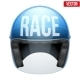Racing Motorcycle Helmet - GraphicRiver Item for Sale