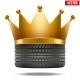 Tire with Golden Crown  - GraphicRiver Item for Sale