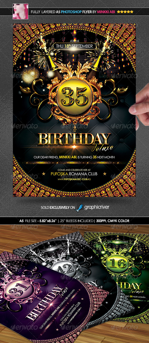 GraphicRiver Birthday Deluxe Poster Flyer 8646180