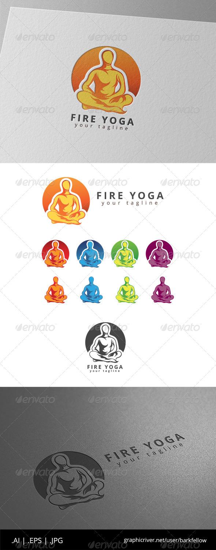GraphicRiver Fire Yoga Logo 8646203