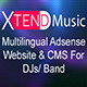 XTEND Music - Multilanguage site for DJs & Band - CodeCanyon Item for Sale